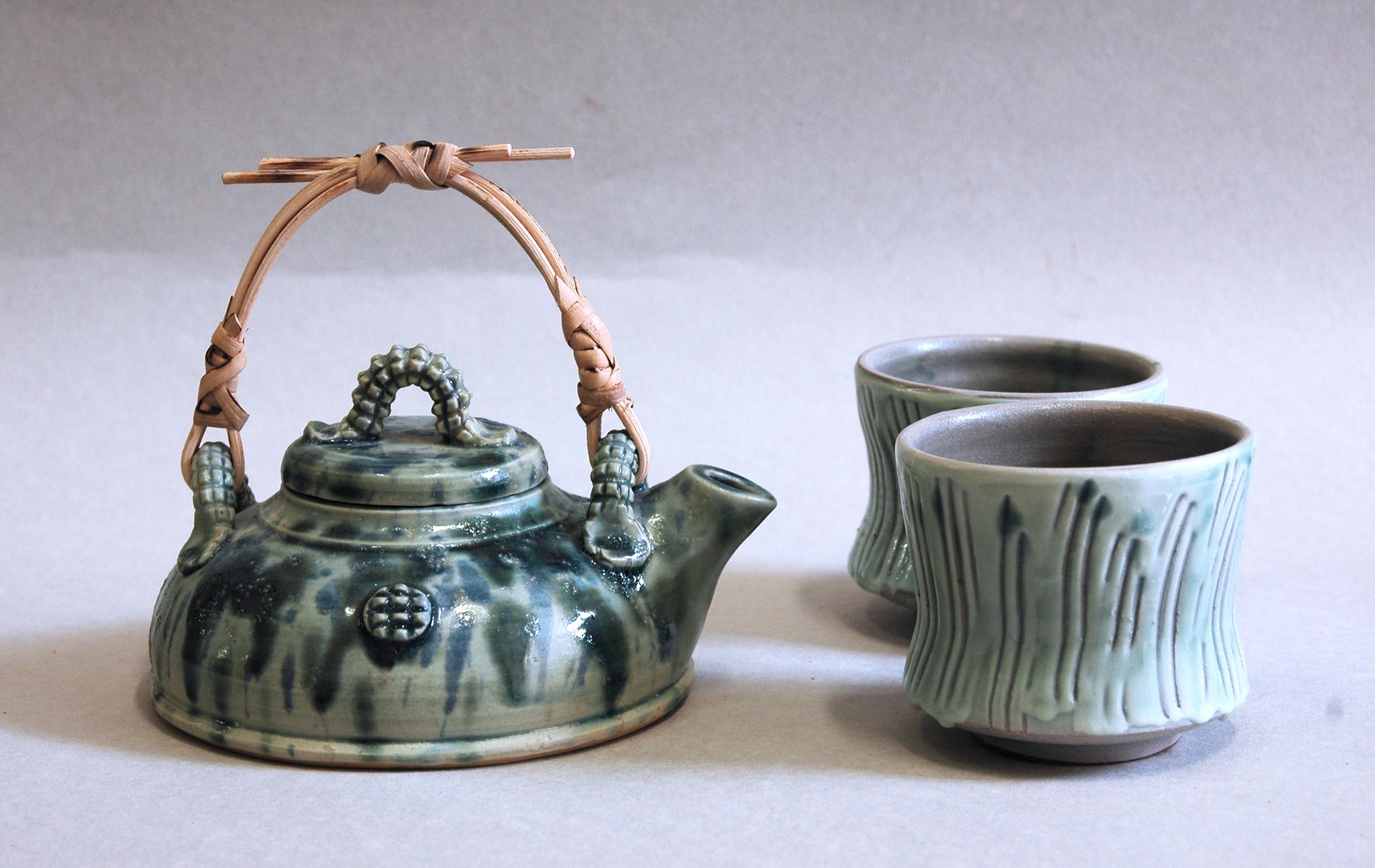 Teiera e tazze – Celadon