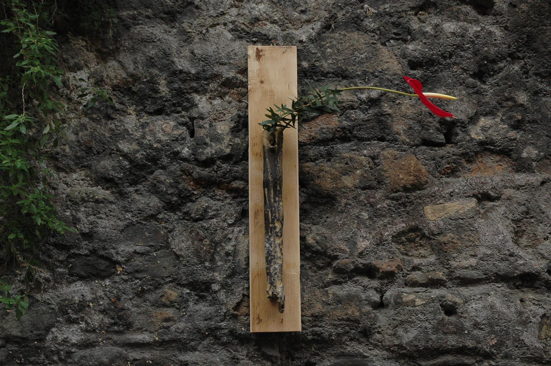 Vaso da appendere – Zucca:Nero Matte – Ikebana di Luca Ramacciotti